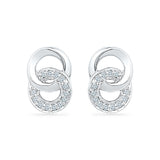 Dual Enchantment Diamond Stud Earrings