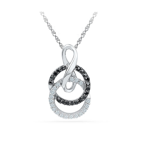 Circular Infinity Diamond Pendant in 14k and 18k Gold online for women