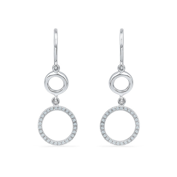 Double Brilliance Diamond Danglers in 14k and 18k gold for women online