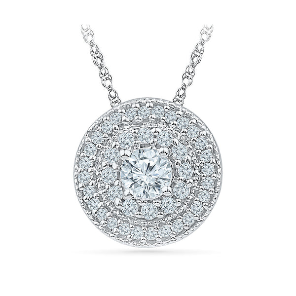 Circle Charms Diamond Pendant in 14k and 18k Gold online for women