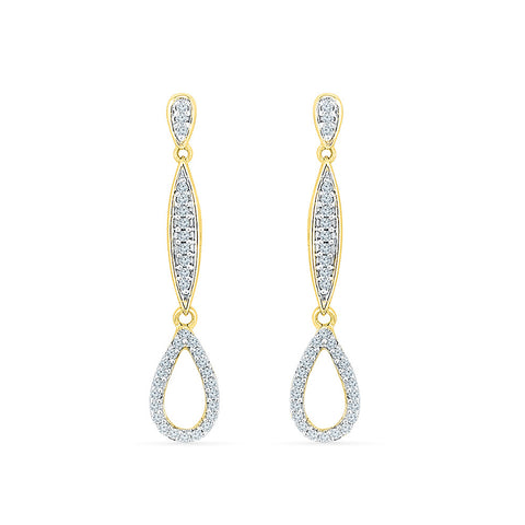 Bewitch Diamond Dangler Earrings in 14k and 18k gold for women online