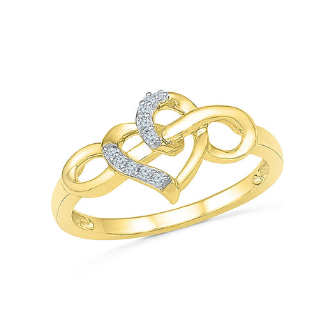 Intertwined Heart Everyday Diamond Ring