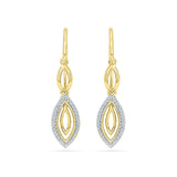 Plunge Diamond Dangler Earrings in 14k and 18k gold for women online