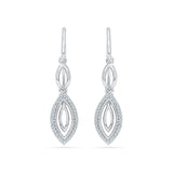 Plunge Diamond Dangler Earrings