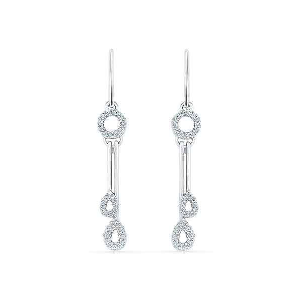 Splendiferous Diamond Dangler Earrings in 14k and 18k gold for women online