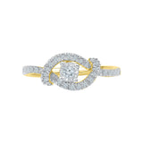 Surrounded Solitaire Diamond Ring