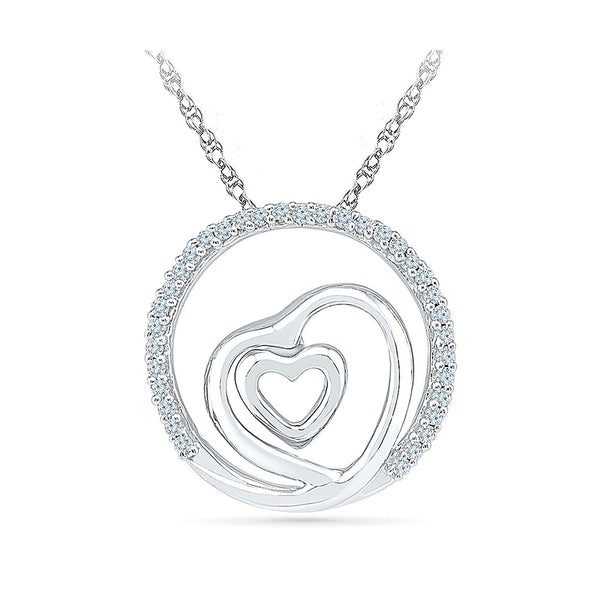 Heart in a Heart Diamond Necklace