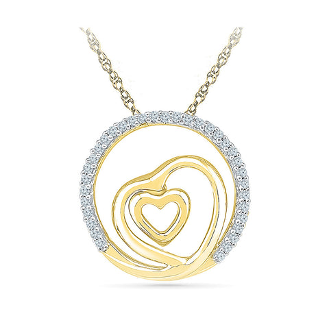 Heart In A Heart Diamond Necklace in 14k and 18k Gold online for women