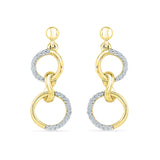 Zen Circle Diamond Earrings