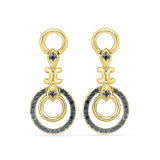 Mellifluous Circle Gold Earrings in 14k and 18k gold for women online