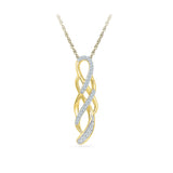 Endless Twist Diamond Pendant in 14k and 18k Gold online for women