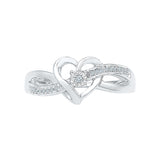Ecstatic Heart Everyday Diamond Silver Ring