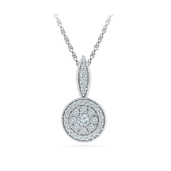 office party wear diamond pendant in 14k and 18k Gold online for women
