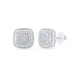 Exquisite Diamond Studs in 92.5 Sterling Silver for women online