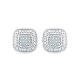 Exquisite Diamond Silver Studs