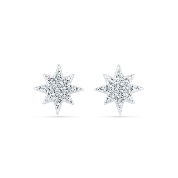 Celestial Diamond Studs in 14k and 18k gold for women online