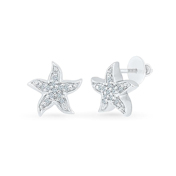 Blithe Diamond Studs in 92.5 Sterling Silver for women online