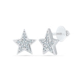 Felicity Diamond Studs in 92.5 Sterling Silver for women online