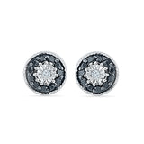 Spunky Black and White Diamond Studs