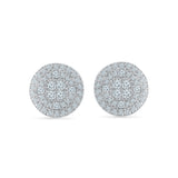 Luscious Diamond Circle Stud Earrings
