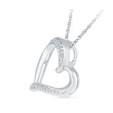 Abounding Heart Diamond Silver Pendant