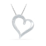 Silver Latest pendant in Prong Setting with Diamonds