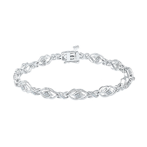 finely detailed diamond bracelet  in white and yellow gold