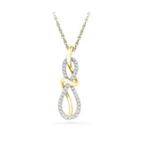 glamorous indian party wear diamond pendant in 14k and 18k Gold online for women