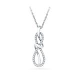 Infinite Links Diamond Pendant