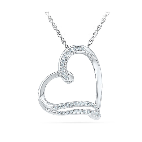 Dainty Heart Diamond Pendant