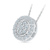 Round Diamond Circle Pendant