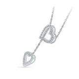 Dual Heart Diamond Lariat