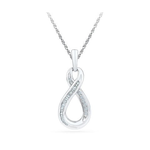Bounteous Infinity Diamond Pendant in 14k and 18k Gold online for women