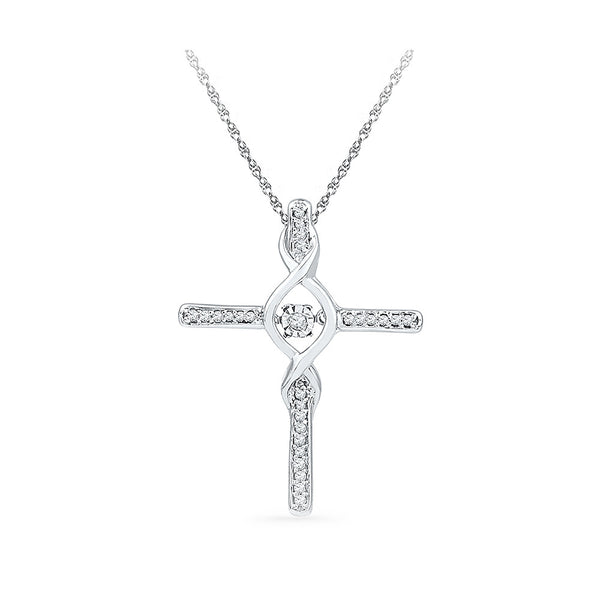 Coruscate Cross Diamond Pendant