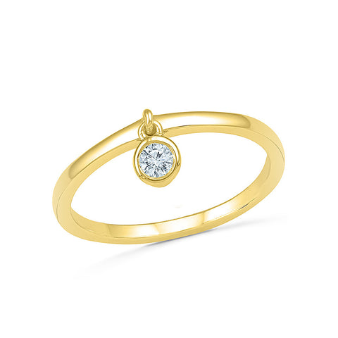 Alluring Diamond Bling Band Ring