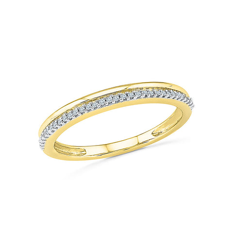 14k, 18k white and yellow gold Dazzle Diamond Band Ring in PRONG setting for women online