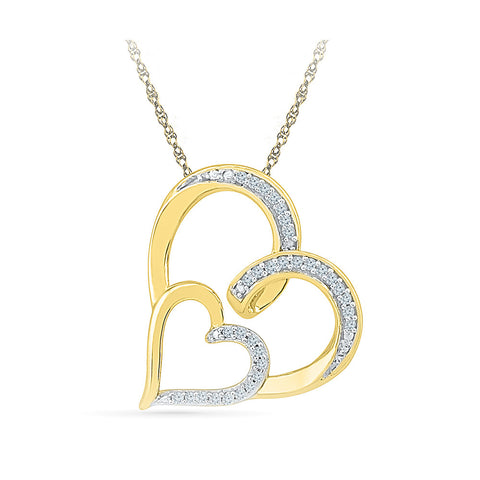 Loving Hearts Diamond Pendant in 14k and 18k Gold online for women