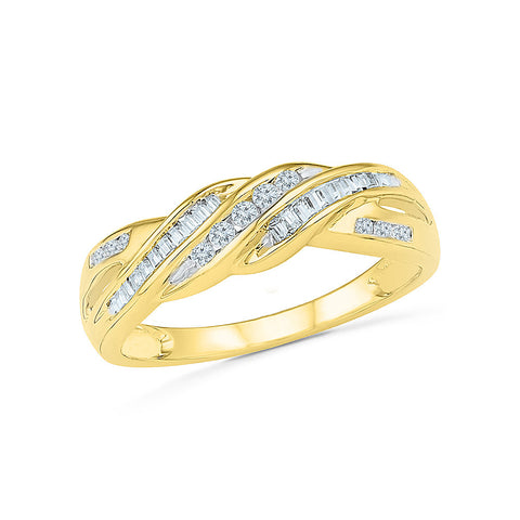14kt / 18kt white and yellow gold Eternal Tie Diamond Cocktail Ring in Channel setting online for women