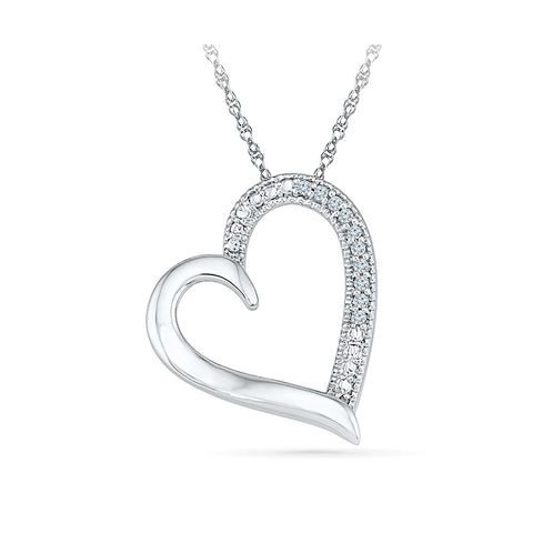 low cost heart diamond pendant in 14k and 18k Gold online for women