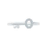 The Luxurious Diamond Key Midi Ring