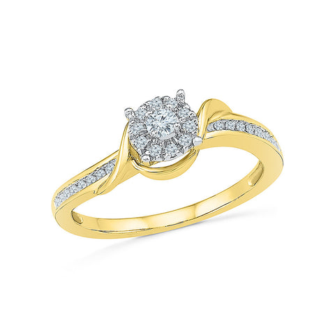 14kt / 18kt white and yellow gold Allure Florette Diamond Ring  in NICK and PRONG for women online