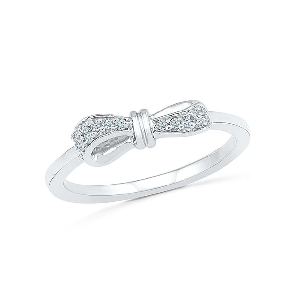 Silver Band Diamond Ring