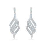 Wondrous Wirl Diamond Drop Earrings in 14k and 18k gold
