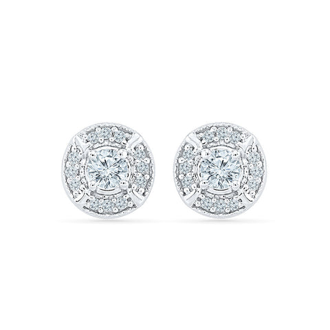 Cheery Diamond Studs in 14k and 18k gold for women online