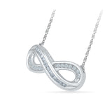 Infinity Diamond Pendant with Chain