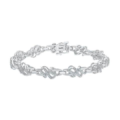 young girls diamond bracelet  in white and yellow gold