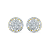 Lavish Diamond Stud Earrings