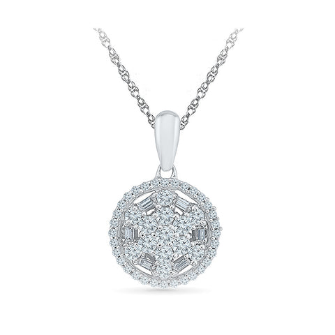 Posh Partywear Diamond Pendant in 14k and 18k Gold online for women