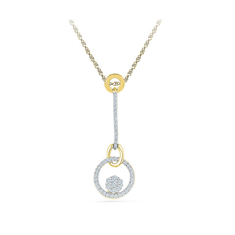 Circlet Blossom Diamond Pendant in 14k and 18k Gold online for women