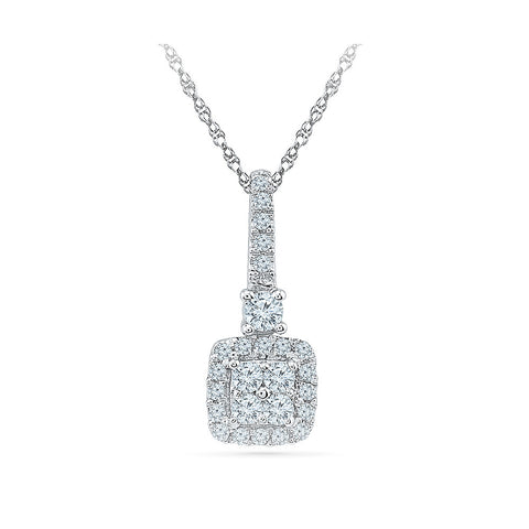 Grace Diamond Pendant in 14k and 18k Gold online for women
